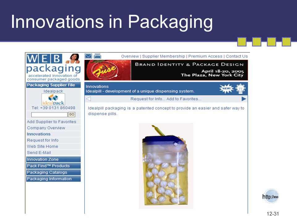 Innovations in Packaging