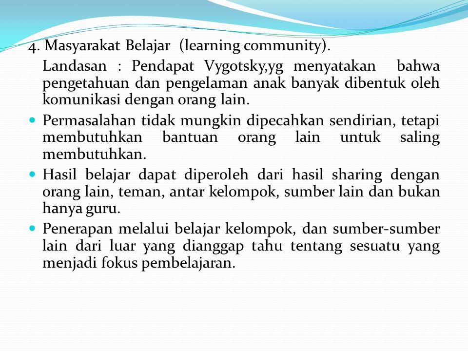 4. Masyarakat Belajar (learning community).