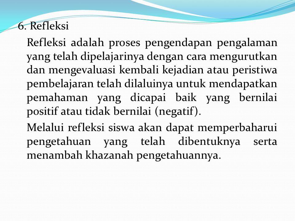 6. Refleksi