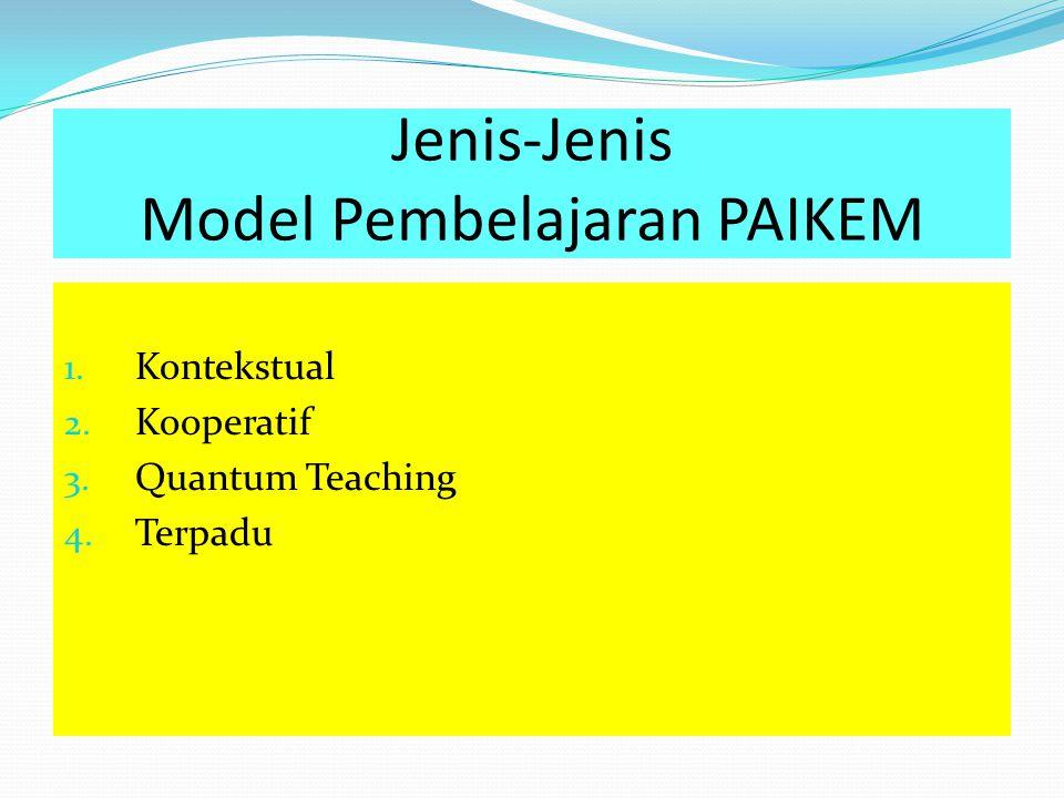 Jenis-Jenis Model Pembelajaran PAIKEM