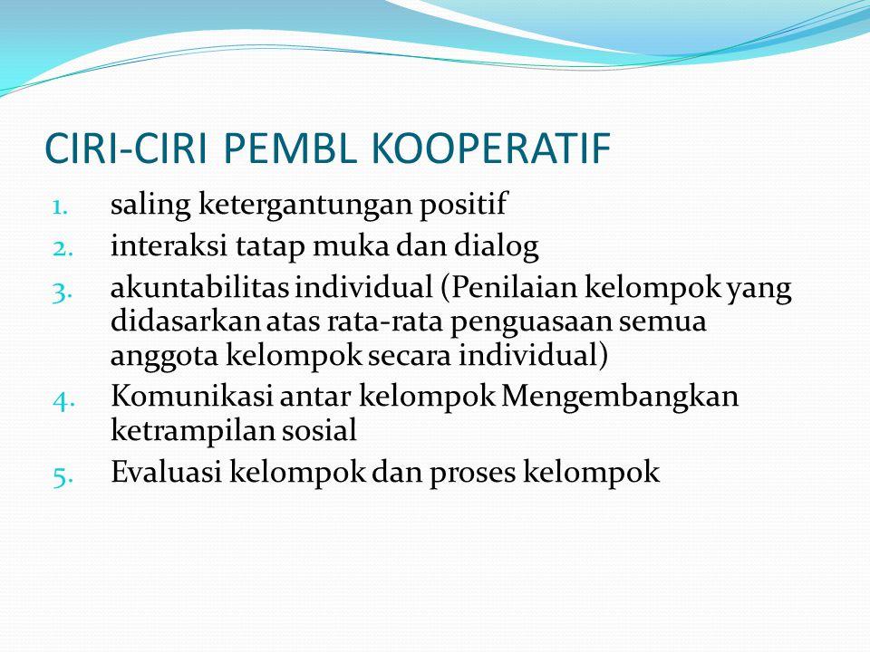 CIRI-CIRI PEMBL KOOPERATIF