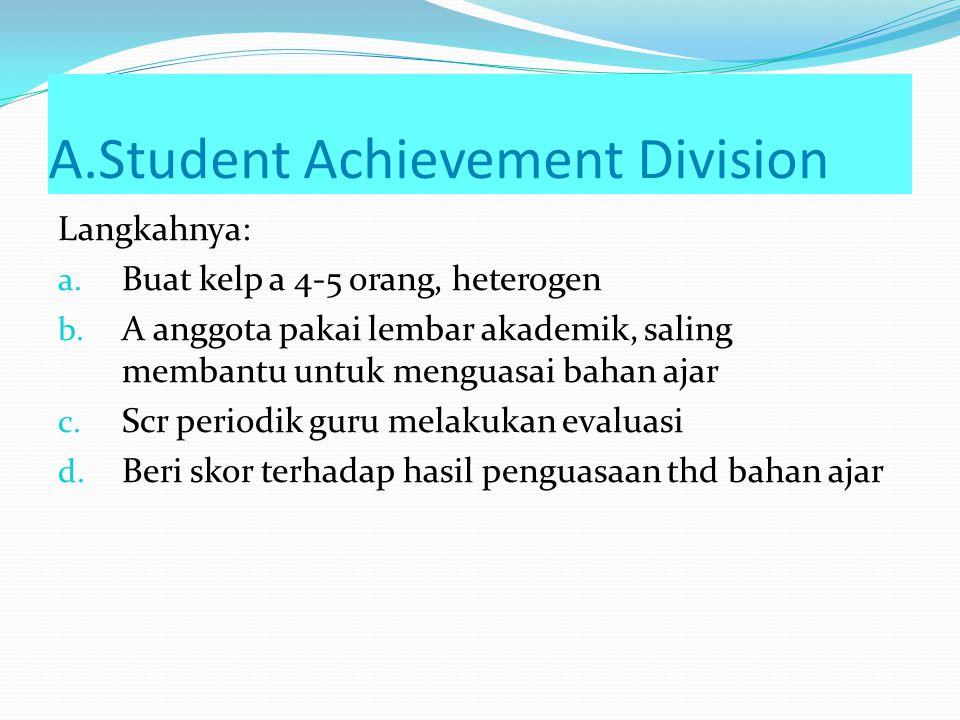 A.Student Achievement Division