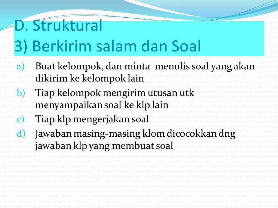 D. Struktural 3) Berkirim salam dan Soal