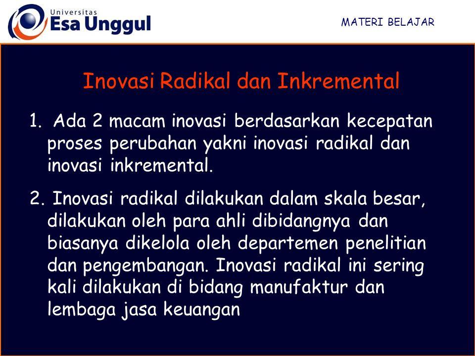 Inovasi Radikal dan Inkremental