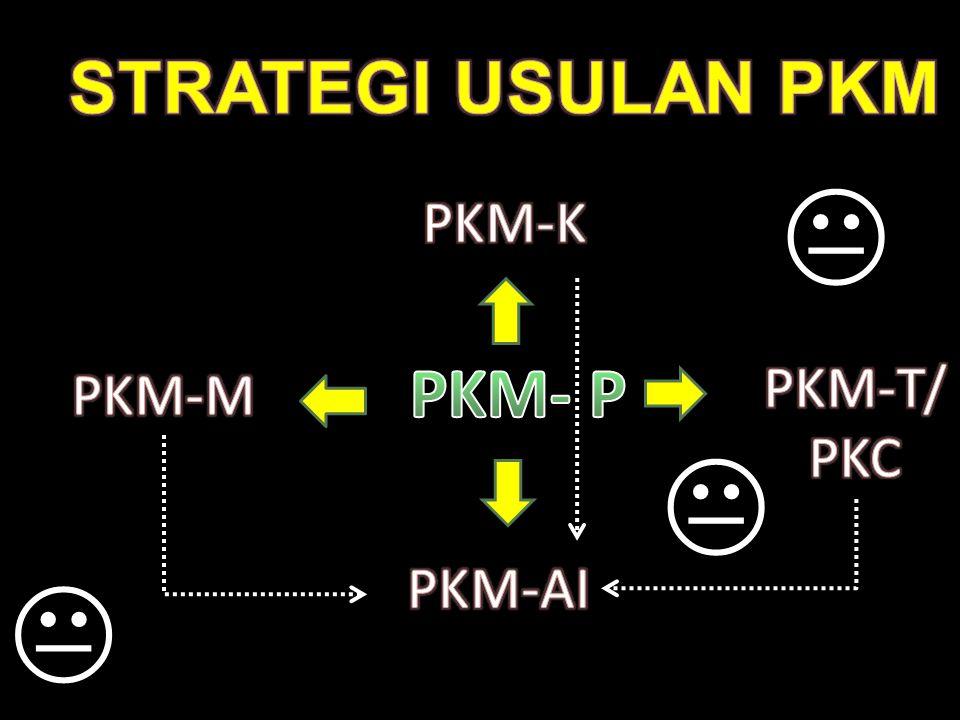 STRATEGI USULAN PKM  PKM-K PKM- P PKM-T/ PKC PKM-M  PKM-AI 