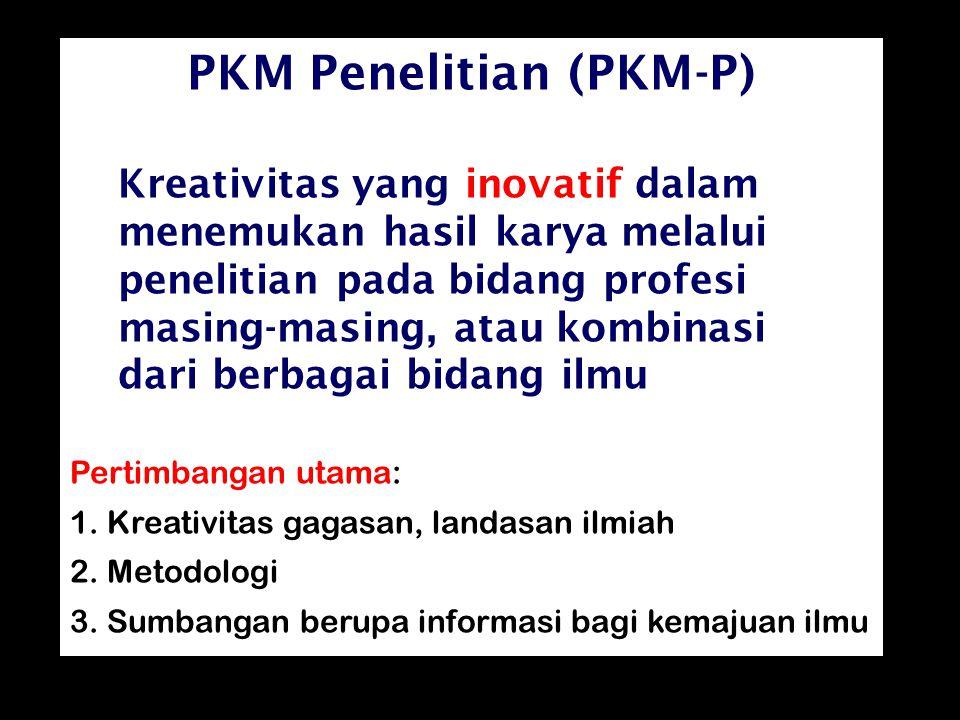 PKM Penelitian (PKM-P)
