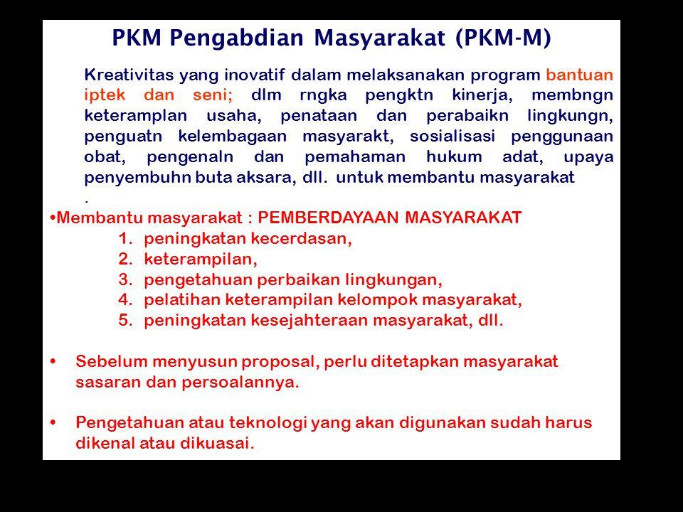 PKM Pengabdian Masyarakat (PKM-M)