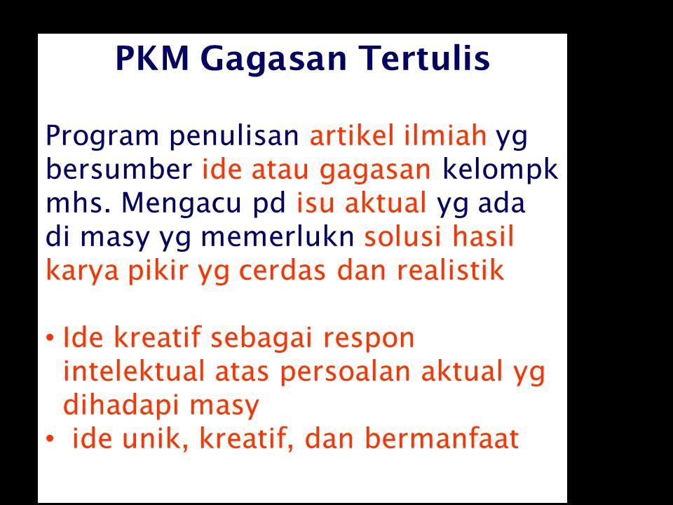 PKM Gagasan Tertulis