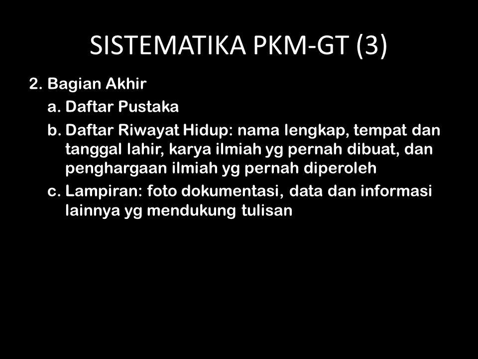 SISTEMATIKA PKM-GT (3) 2. Bagian Akhir Daftar Pustaka