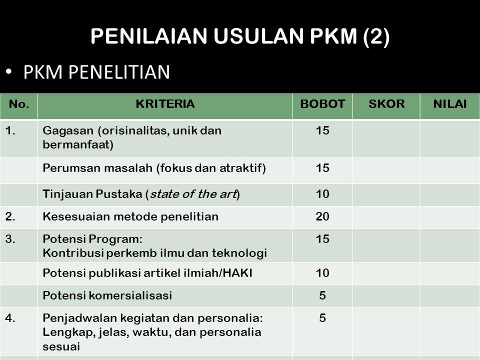 PENILAIAN USULAN PKM (2)
