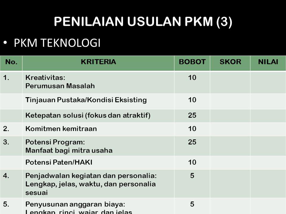 PENILAIAN USULAN PKM (3)