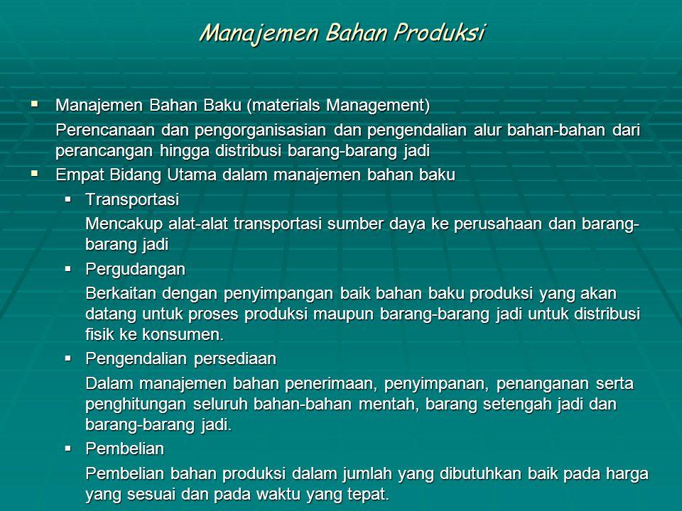 Manajemen Bahan Produksi