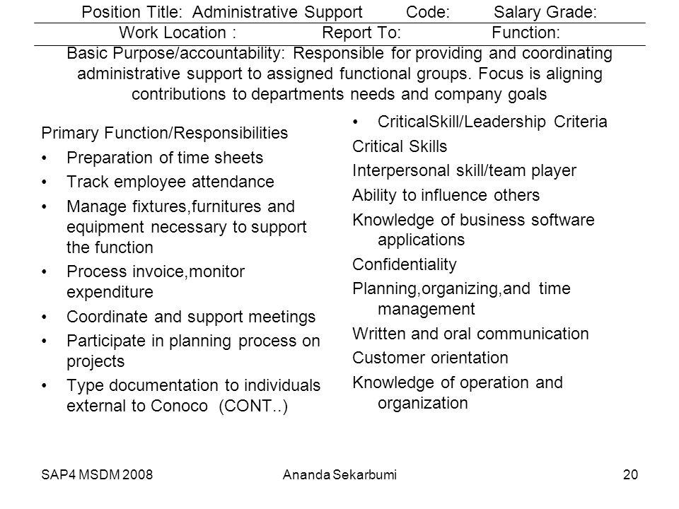 CriticalSkill/Leadership Criteria Critical Skills