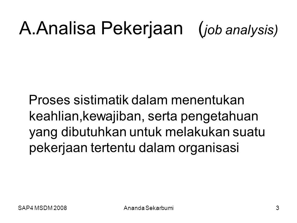 A.Analisa Pekerjaan (job analysis)