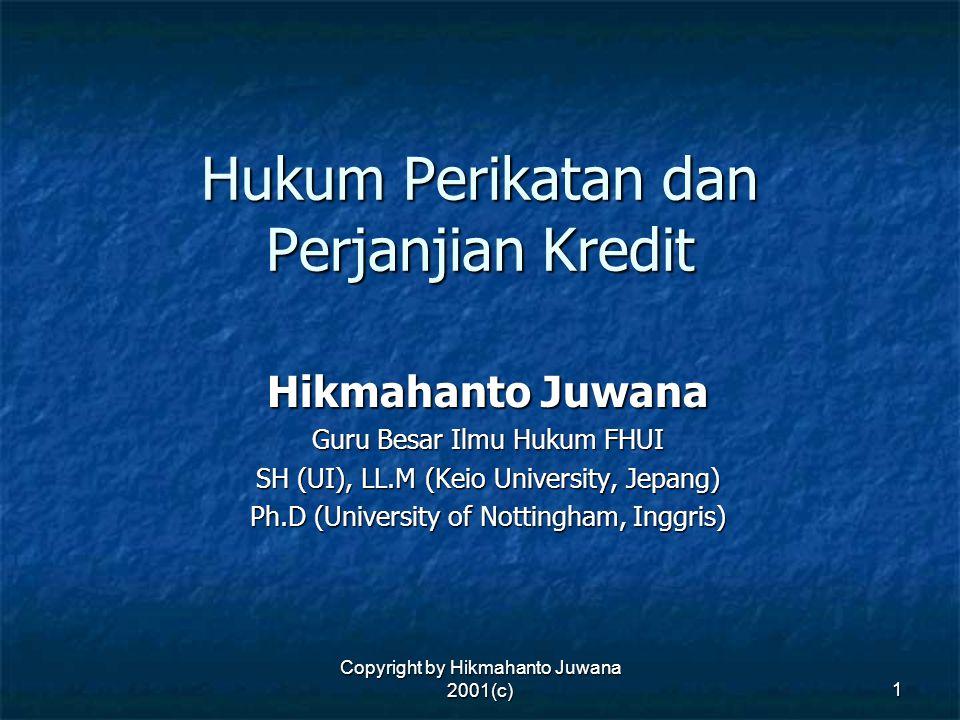 Hukum Perikatan dan Perjanjian Kredit