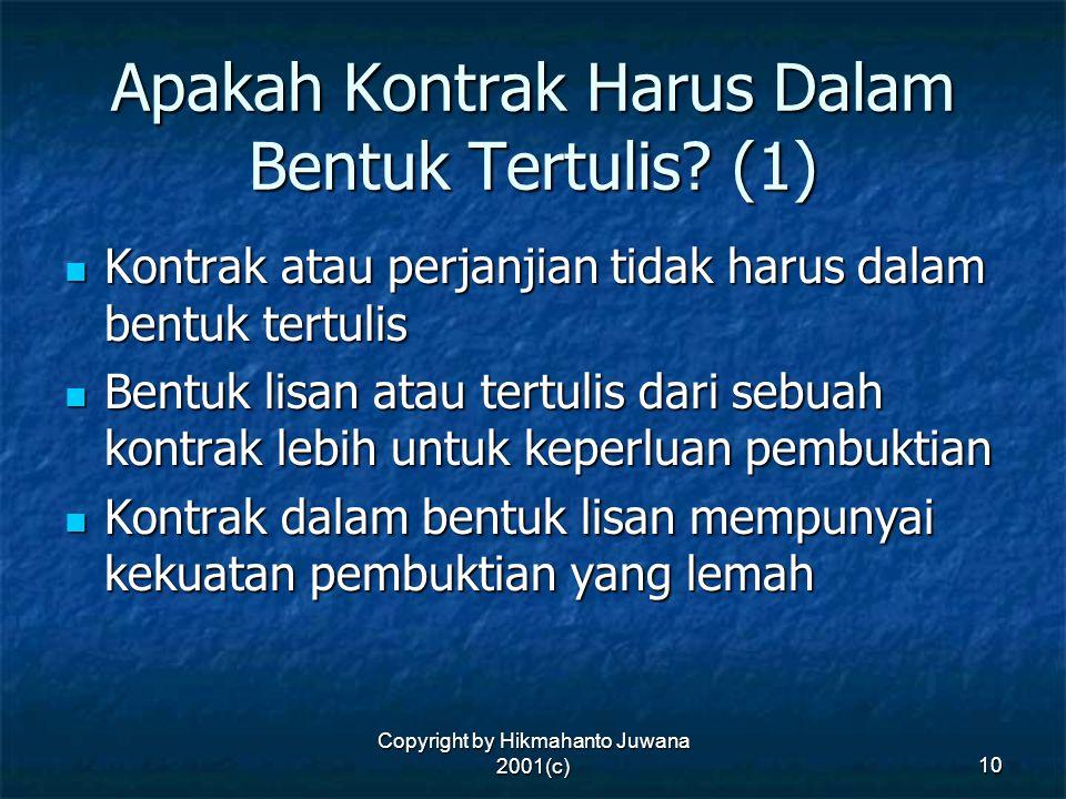 Apakah Kontrak Harus Dalam Bentuk Tertulis (1)
