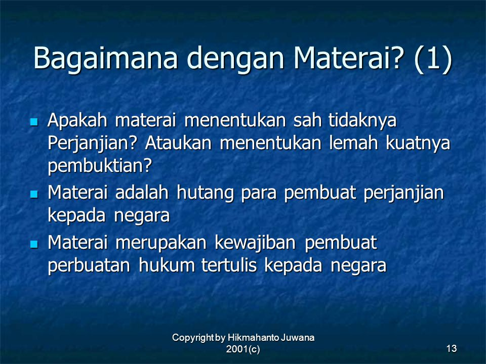 Bagaimana dengan Materai (1)