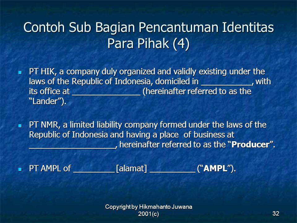 Contoh Sub Bagian Pencantuman Identitas Para Pihak (4)