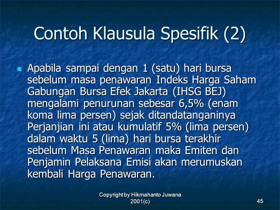 Contoh Klausula Spesifik (2)
