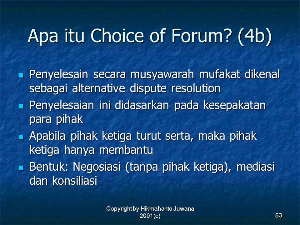 Apa itu Choice of Forum (4b)