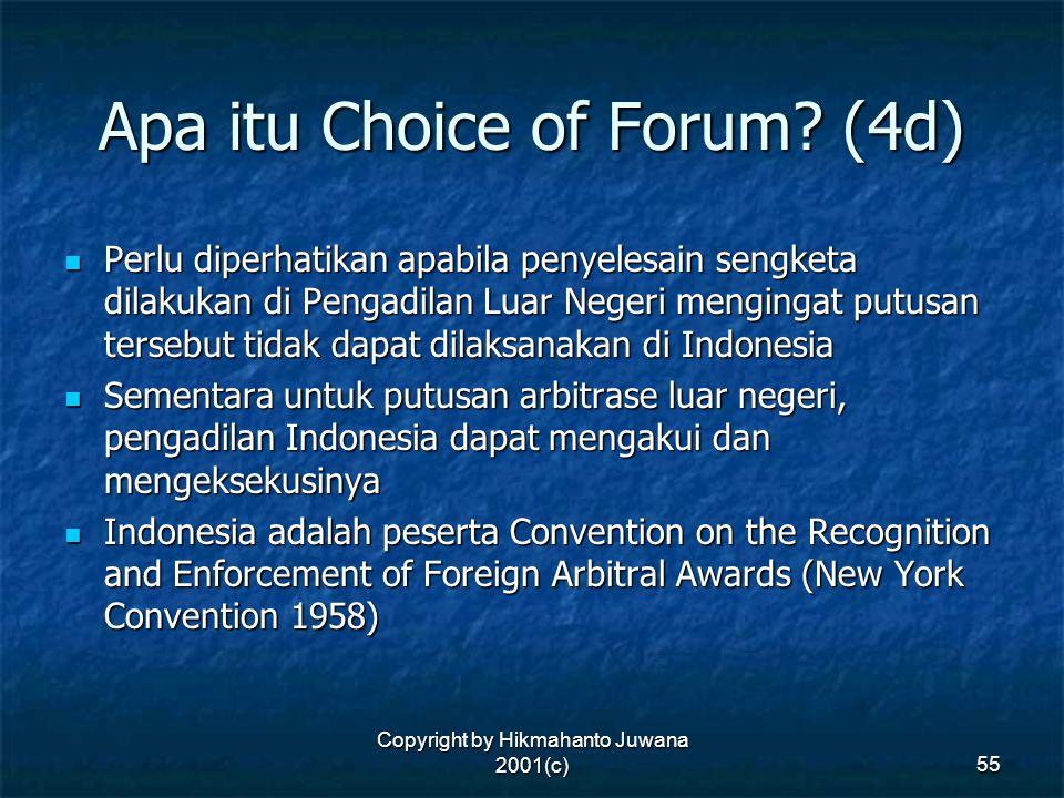 Apa itu Choice of Forum (4d)