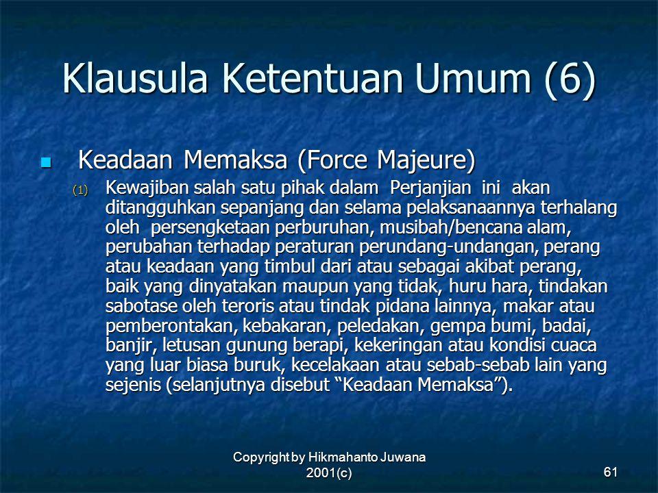 Klausula Ketentuan Umum (6)