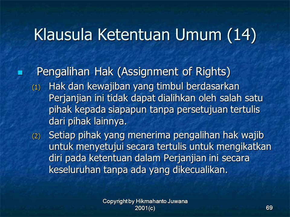 Klausula Ketentuan Umum (14)