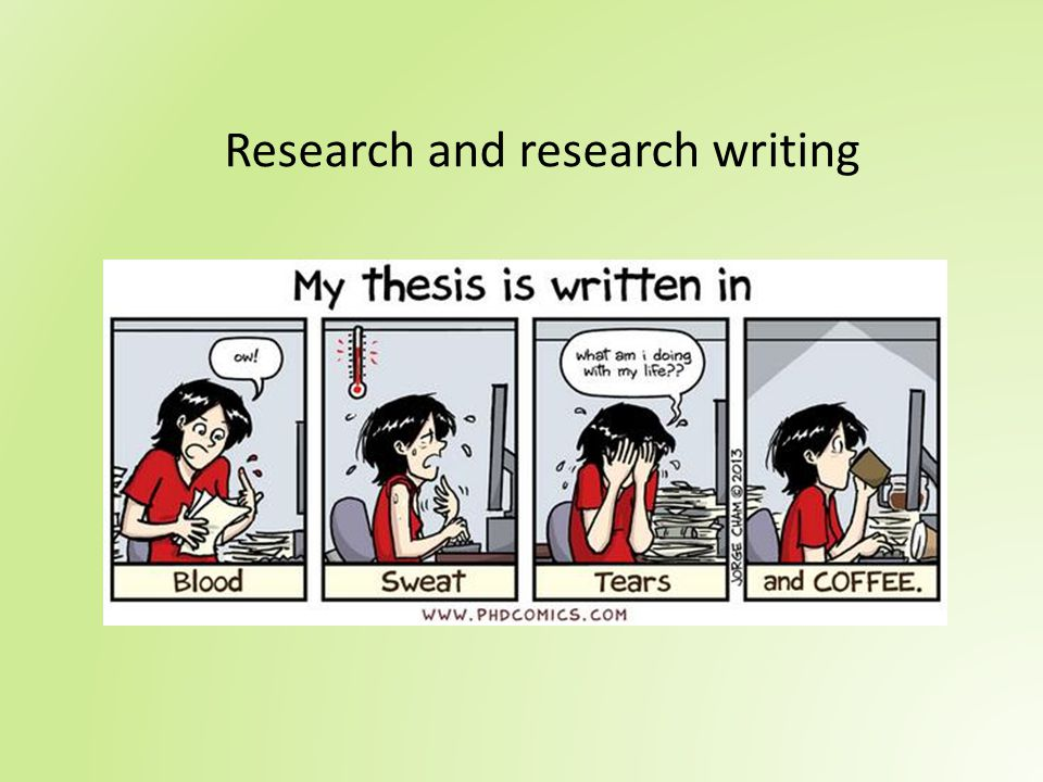 Research and research writing