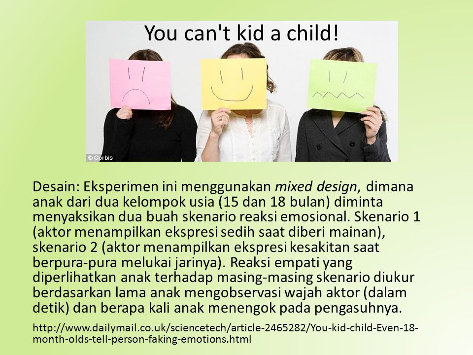 You can t kid a child!