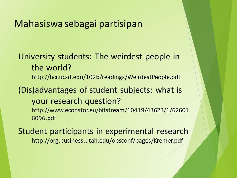 Mahasiswa sebagai partisipan