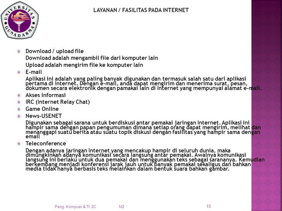 LAYANAN / FASILITAS PADA INTERNET