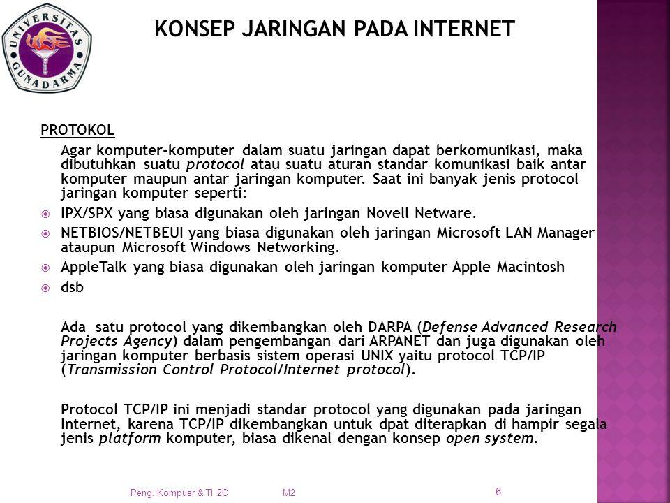 KONSEP JARINGAN PADA INTERNET