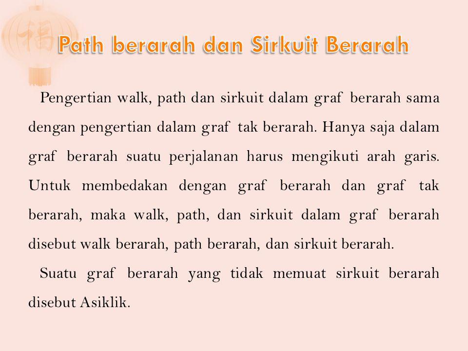 Path berarah dan Sirkuit Berarah