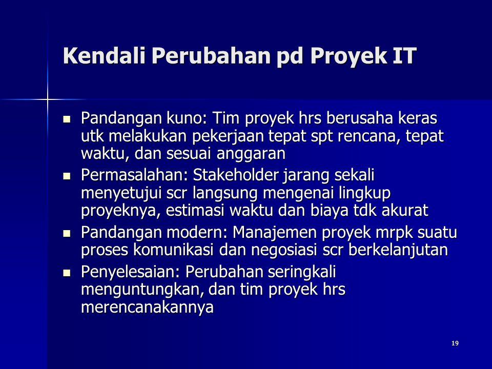 Kendali Perubahan pd Proyek IT