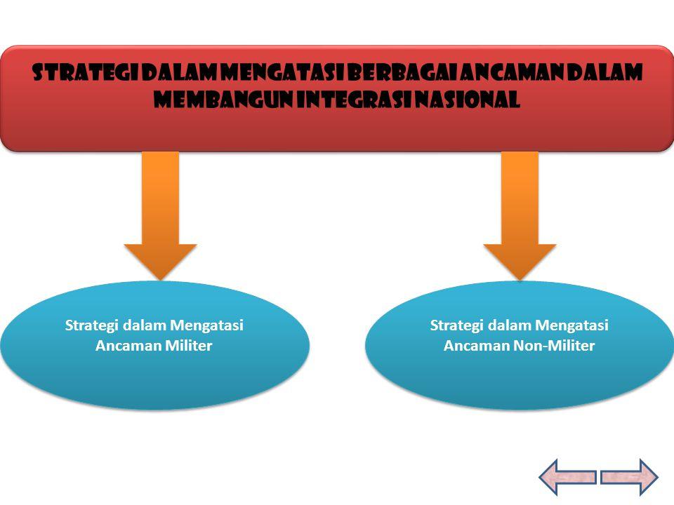 Strategi dalam Mengatasi Berbagai Ancaman Dalam Membangun Integrasi Nasional