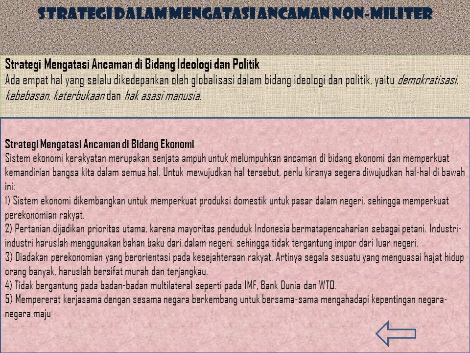 Strategi dalam Mengatasi Ancaman Non-Militer