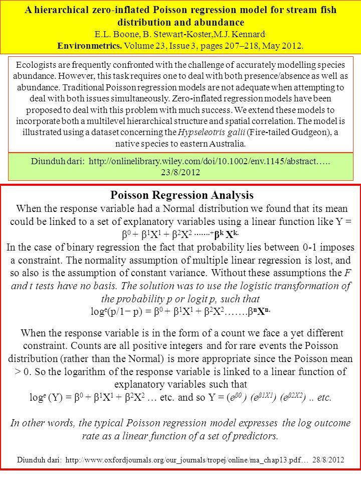 Poisson Regression Analysis