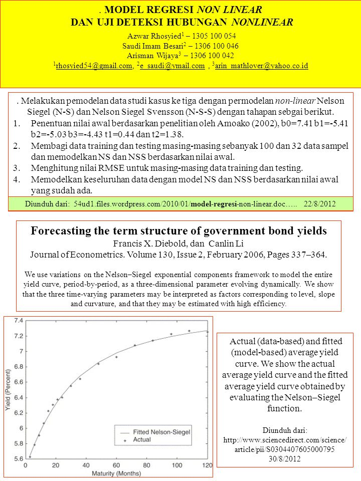 Forecasting the term structure of government bond yields