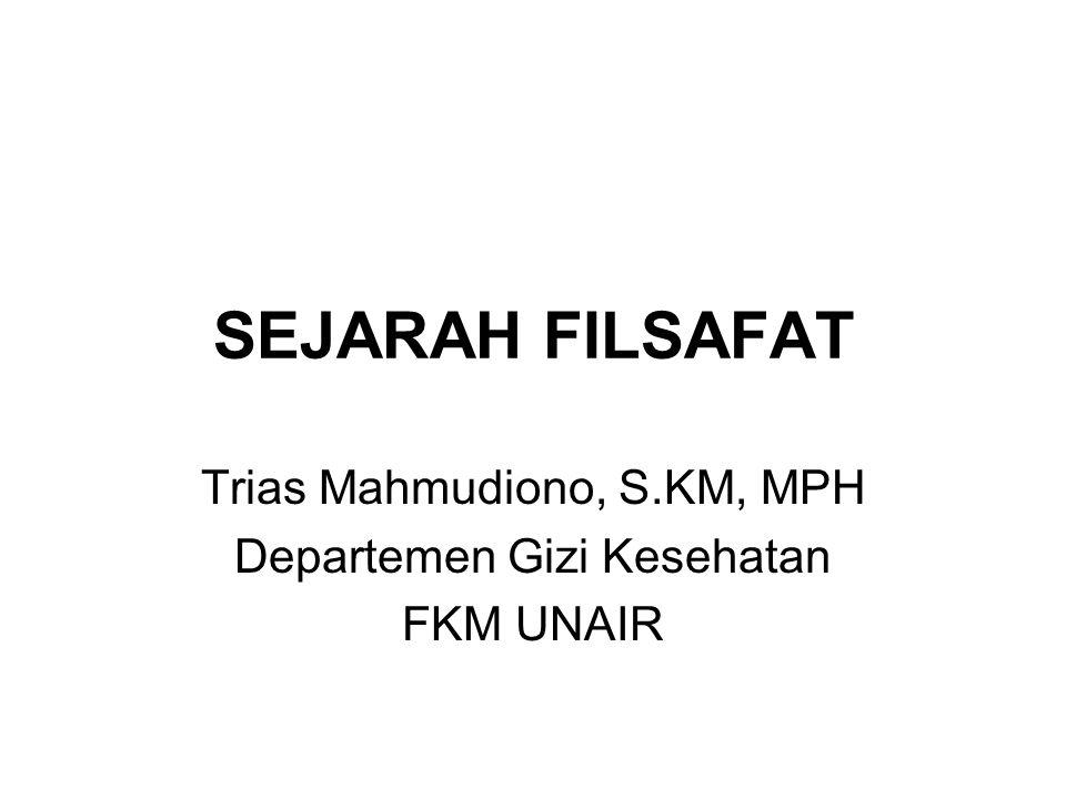 Trias Mahmudiono, S.KM, MPH Departemen Gizi Kesehatan FKM UNAIR