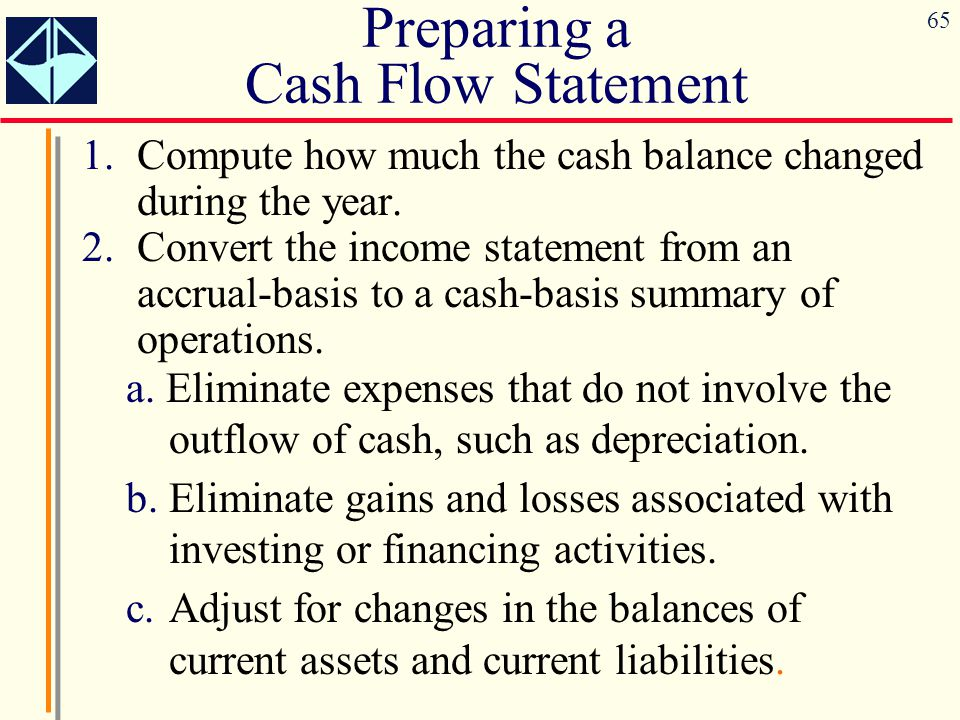 Preparing a Cash Flow Statement