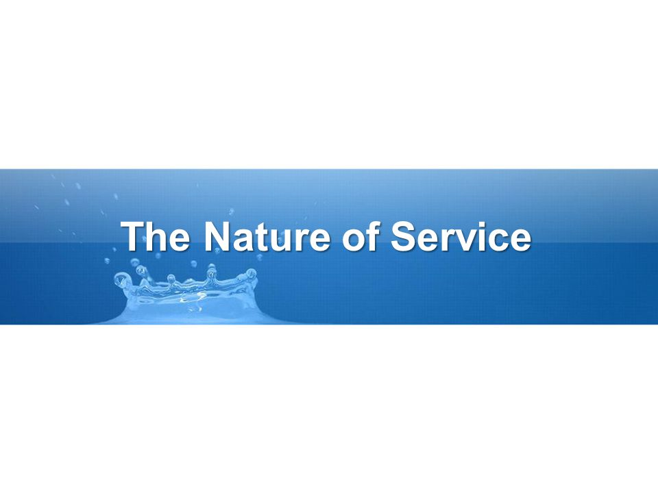 The Nature of Service
