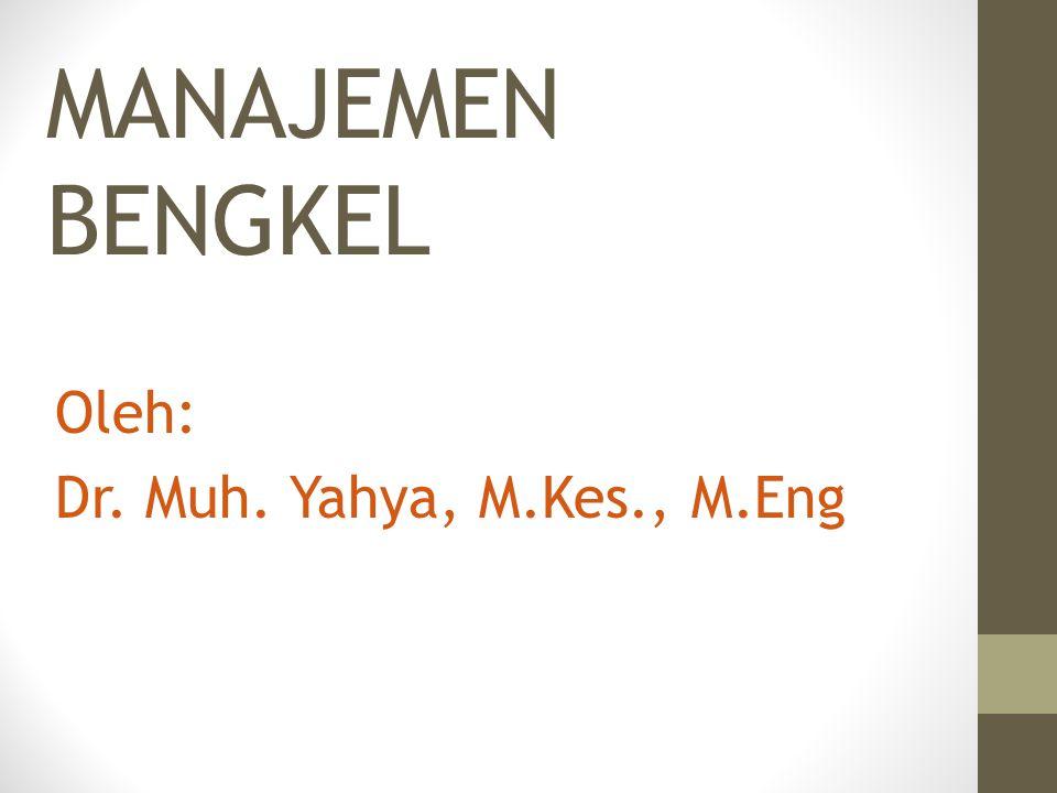 Oleh: Dr. Muh. Yahya, M.Kes., M.Eng