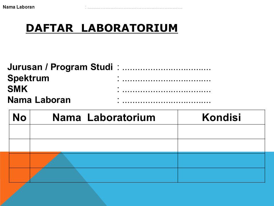 No Nama Laboratorium Kondisi