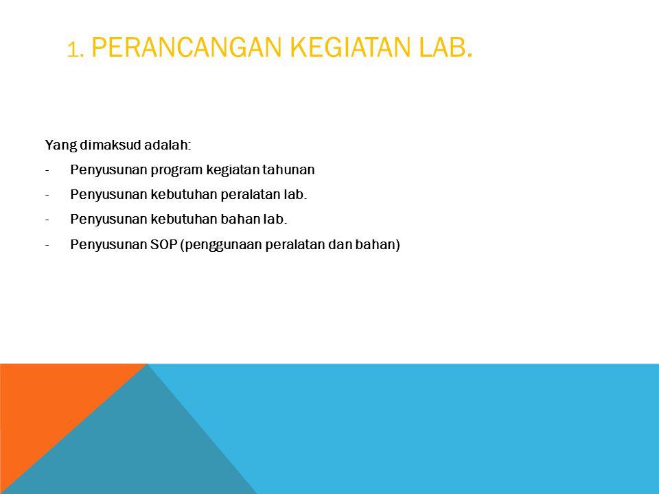 1. Perancangan Kegiatan Lab.