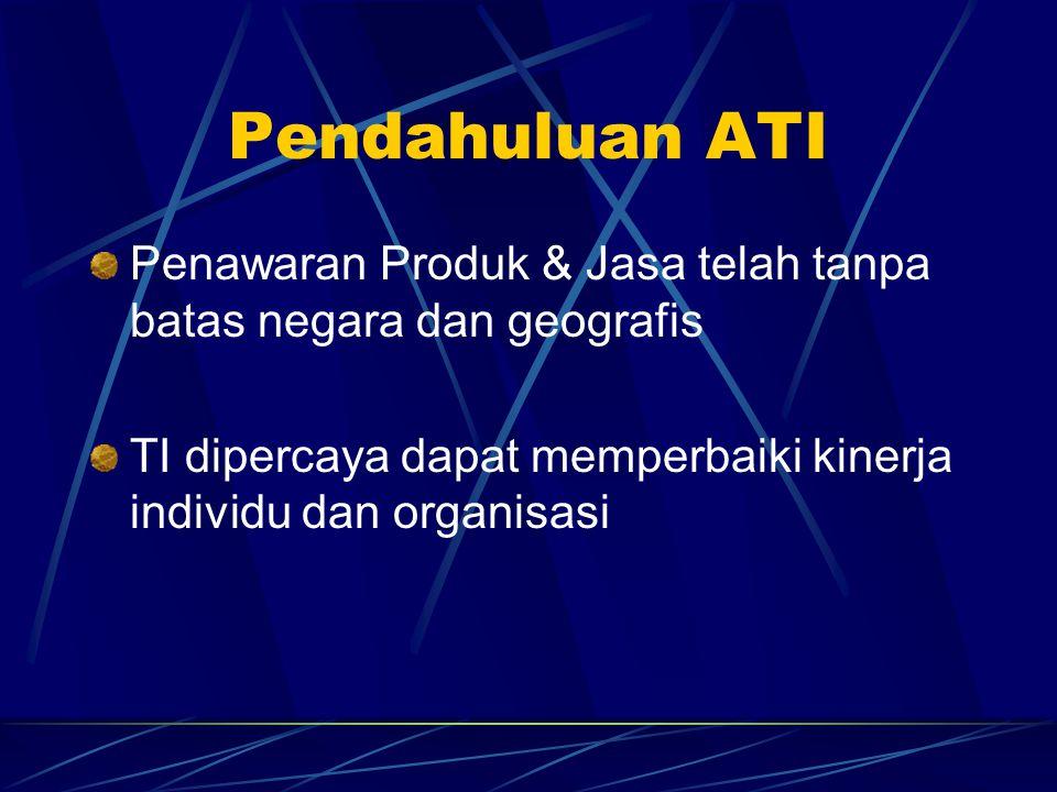 Pendahuluan ATI Penawaran Produk & Jasa telah tanpa batas negara dan geografis.
