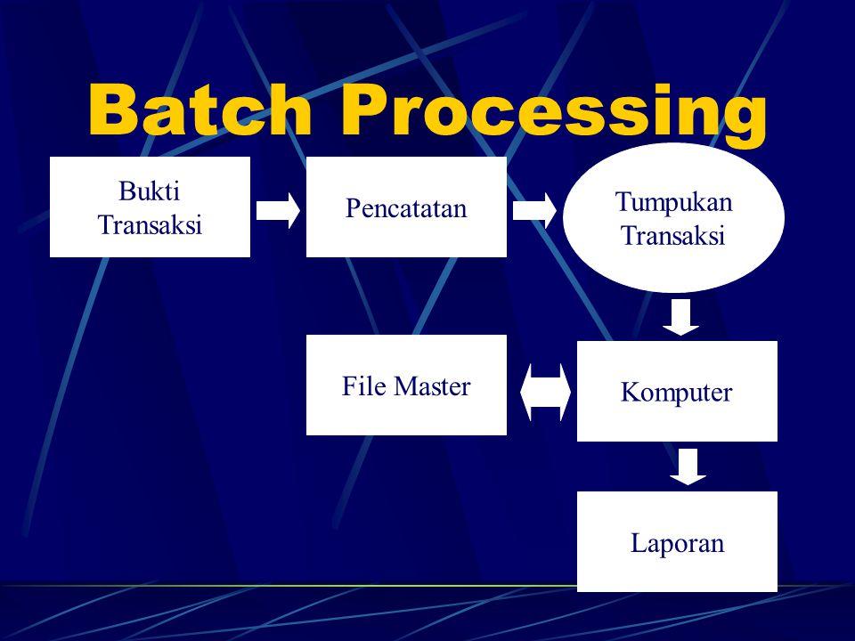 Batch Processing Bukti Tumpukan Pencatatan Transaksi File Master