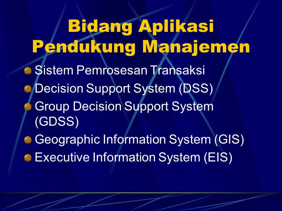 Bidang Aplikasi Pendukung Manajemen