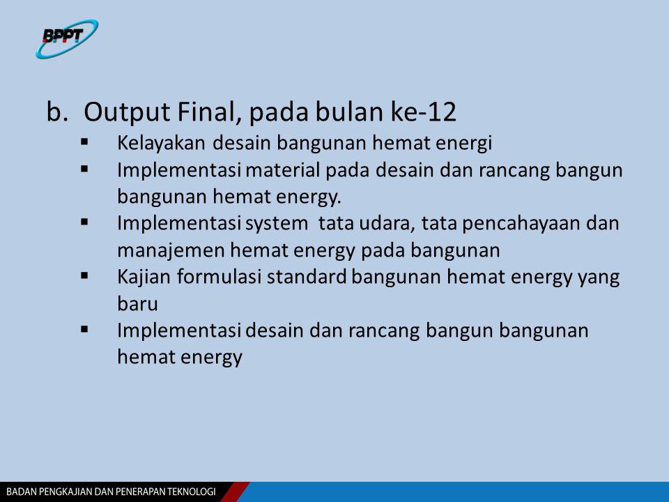 Output Final, pada bulan ke-12