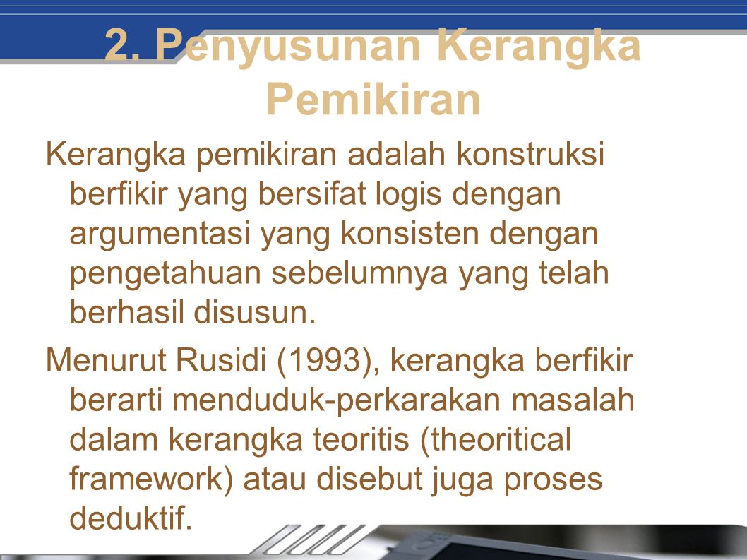 2. Penyusunan Kerangka Pemikiran