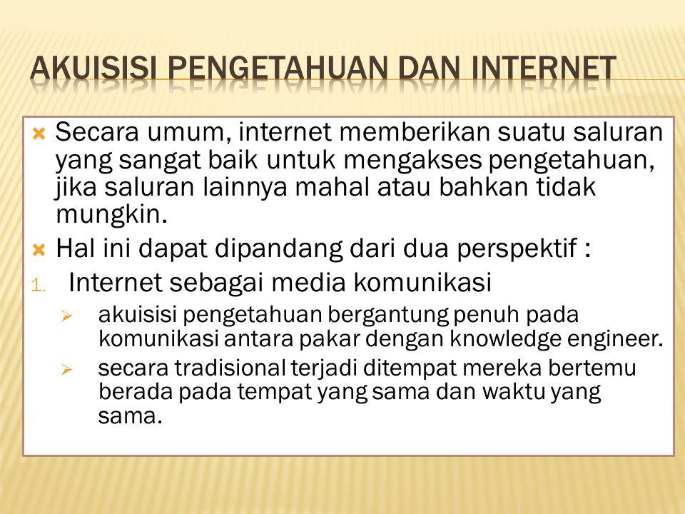 Akuisisi pengetahuan dan internet